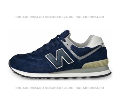 Кроссовки New Balance 574 Blue (без сетки)