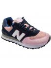 Кроссовки New Balance 574 Dark Blue/Light Pink