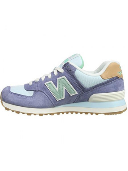 Кроссовки New Balance 574 Dark Purple/Mint