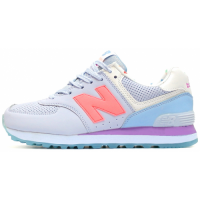 Кроссовки New Balance 574 Dim Blue/Coral/Purple