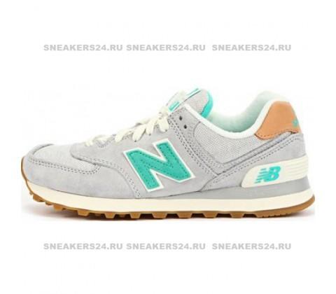 Кроссовки New Balance 574 Grey/Mint/Brown