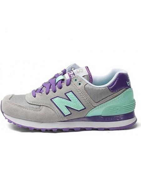 Кроссовки New Balance 574 Grey/Mint/Purple