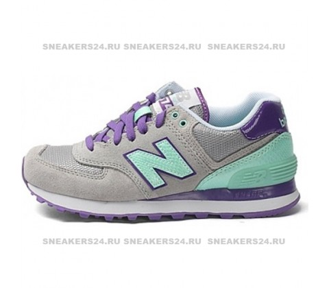 Кроссовки New Balance 574 Grey/Mint/Purple