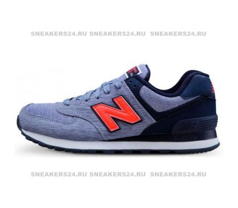 Кроссовки New Balance 574 Cyan/Orange