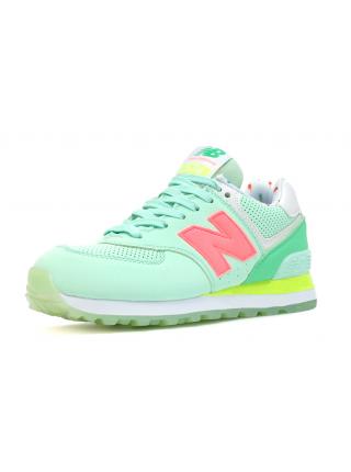 Кроссовки New Balance 574 Light Green/Coral