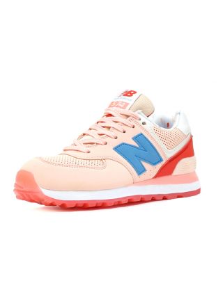 Кроссовки New Balance 574 Light Pink/Blue/Coral