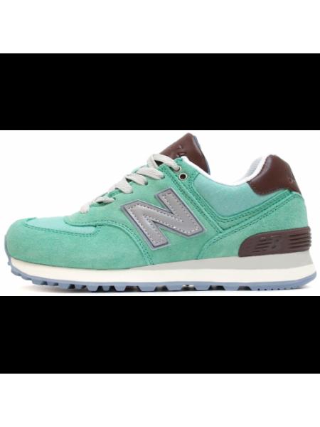 Кроссовки New Balance 574 Premium Mint/Brown