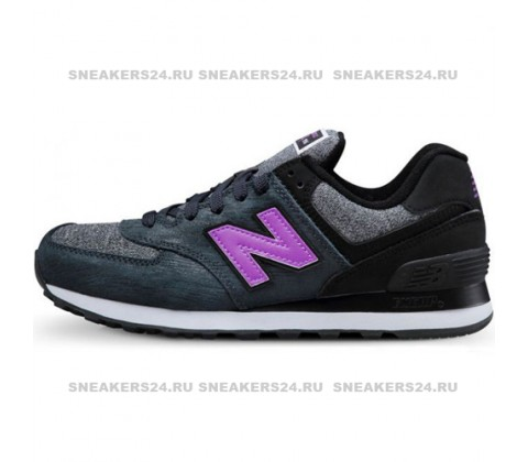Кроссовки New Balance 574 Sharp Grey/Lilac