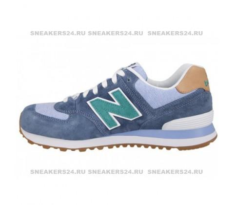 Кроссовки New Balance 574 Premium ASF Mint/Blue