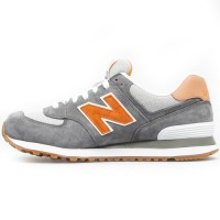 Кроссовки New Balance 574 Premium Grey/Orange