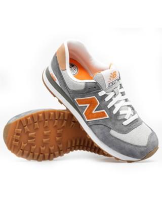 Кроссовки New Balance 574 Premium Grey/Orange