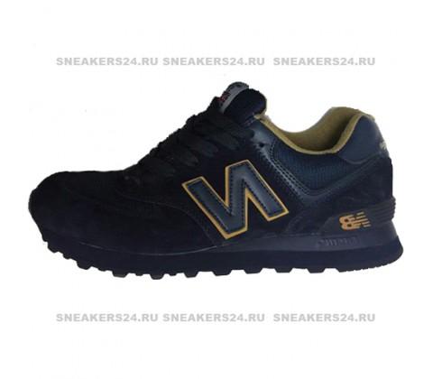 Кроссовки New Balance 574 Dark Blue/Brown