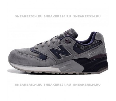 "Кроссовки New Balance 999 ""Tartan"" Pack Cool Grey/Purple"