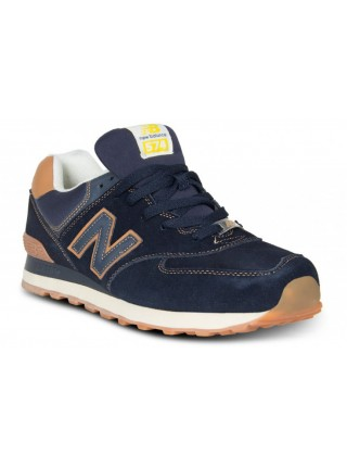 "Кроссовки New Balance 574 ""Suede"" Pack Dark Blue/Gum Yellow"