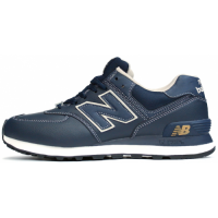 Кроссовки New Balance 574 Leather Blue