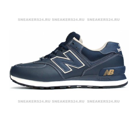 Кроссовки New Balance 574 Leather Blue