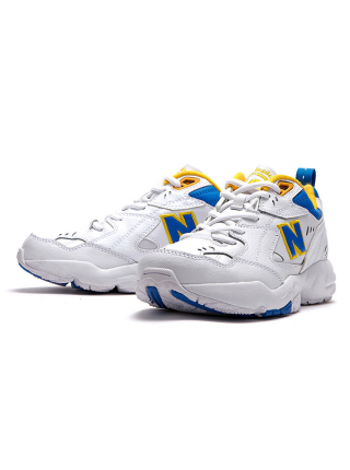 Кроссовки New Balance 608 White/Blue/Yellow