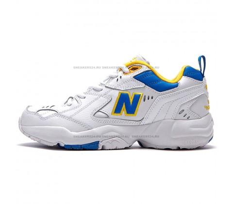 Кроссовки New Balance 608 White/Blue/Yellow