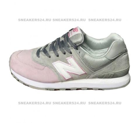 Кроссовки New Balance 574 Light Pink/Light Grey