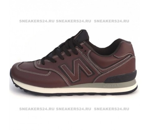 Кроссовки New Balance 574 Leather Brown