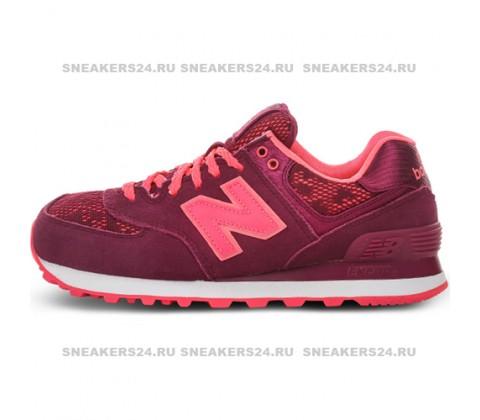 Кроссовки New Balance 574 Burgundy/Pink