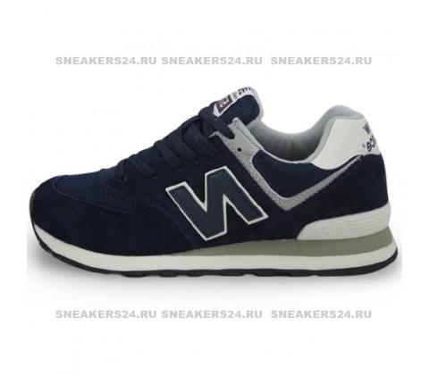 Кроссовки New Balance 574 Blue (с сеткой)