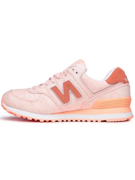 Кроссовки New Balance 574 Light Pink/Orange