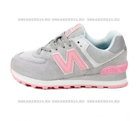 Кроссовки New Balance 574 Gray/Pink