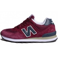 Кроссовки New Balance 574 Burgundy/Blue