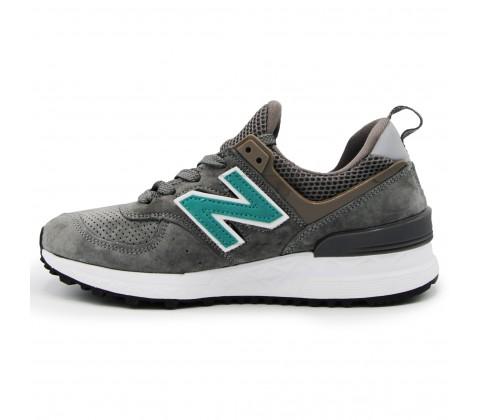 Кроссовки New Balance 574 S Dark Gray/Green