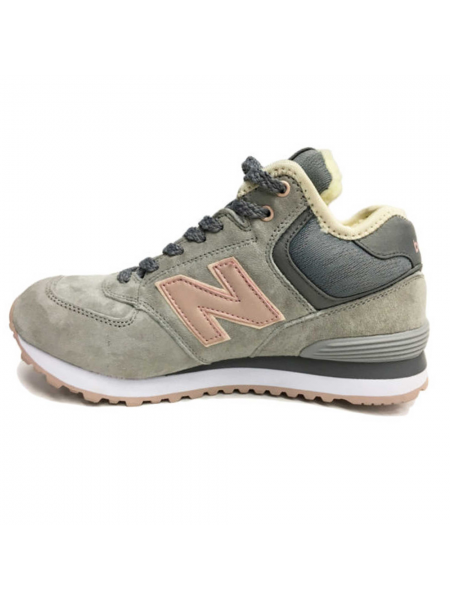 Кроссовки New Balance 574 High Lightly Grey With Fur