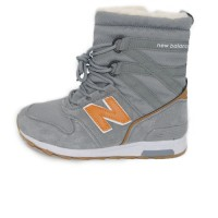 Кроссовки New Balance Winter Sport Gray/Orange With Fur