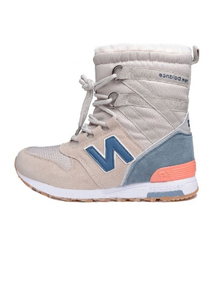 Кроссовки New Balance Winter Sport Beige/Blue With Fur