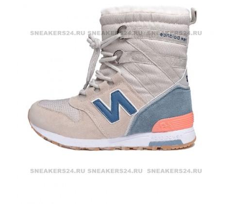 Кроссовки New Balance Winter Sport Beige/Blue With Fur