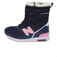Кроссовки New Balance Winter Sport Dark Blue/Pink With Fur