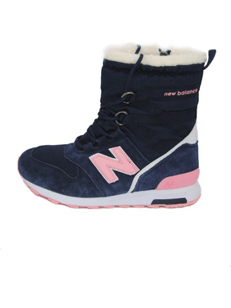 Кроссовки New Balance Winter Sport Dark Blue/Pink With Fur