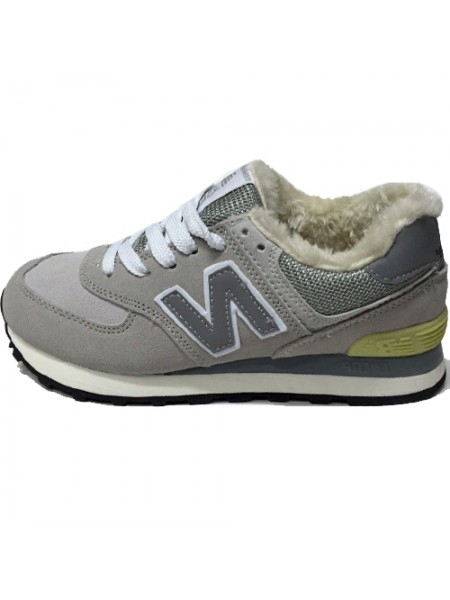 Кроссовки New Balance 574 Light Grey With Fur