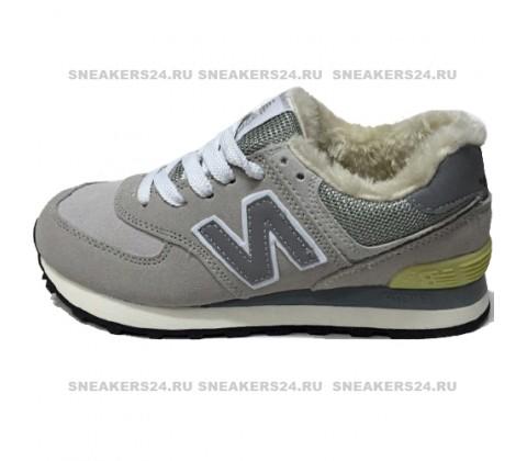 Кроссовки New Balance 574 Light Grey With Fur