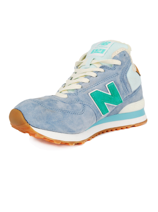 Кроссовки New Balance 574 High Light Blue With Fur