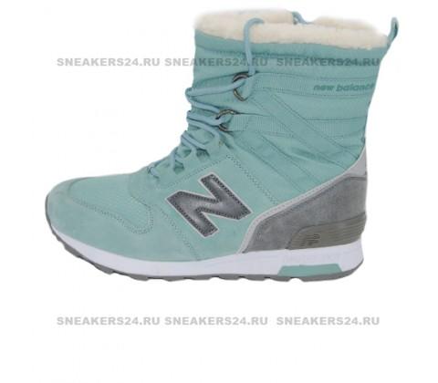 Кроссовки New Balance Winter Sport Turquoise/Grey With Fur