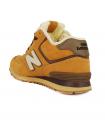 Кроссовки New Balance 574 High Orange/Brown With Fur