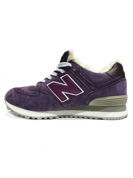 Кроссовки New Balance 574 Rich Purple With Fur