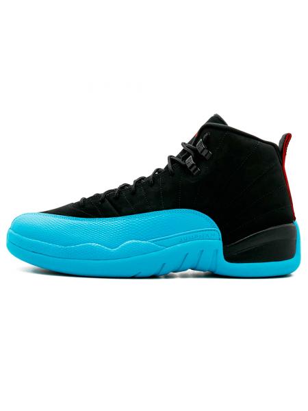 Кроссовки Nike Air Jordan 12 Black/Cyan