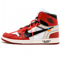 Кроссовки Nike Air Jordan 1 Retro High x OFF White Red/White