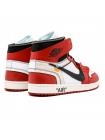 Кроссовки Nike Air Jordan 1 Retro High x OFF White Red/White