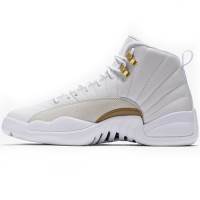 Кроссовки Nike Air Jordan 12 Retro Jumpmen White/Gold