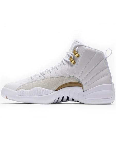 Кроссовки Nike Air Jordan 12 Retro Jumpmen White/Gold