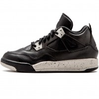 Кроссовки Nike Air Jordan 4 Retro Black/Black/White