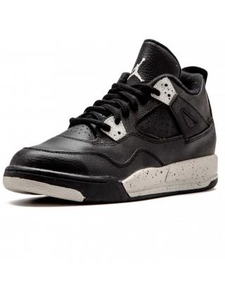 Кроссовки Nike Air Jordan 4 Retro Black/Black/White