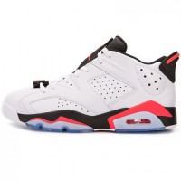 Кроссовки Nike Air Jordan VI Low White/Black/Coral